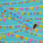 Brother Sister Design Studio, Gift Wrap Roll, Llama with Banners , 50 square feet