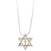 Holy Land Gifts, Star of David Pendant, Stainless Steel, Silver, 20 Inches
