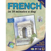 Bilingual Books, FRENCH in 10 minutes a day, Book with Digital Download