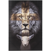 Renewing Faith, The Lion & The Lamb Wall Decor, Canvas, 36 x 24 Inches