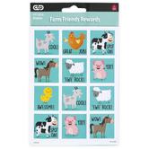 Creative Teaching Press, Farm Friends Reward Stickers, Multi-Colored, 60 Stickers
