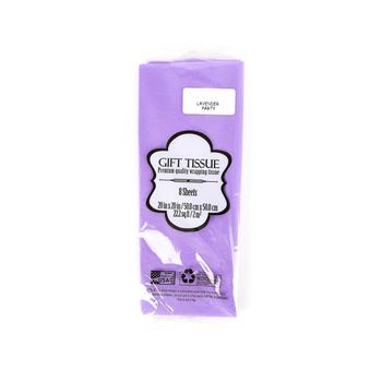Seaman Paper Co., Tissue Paper, Lavender, 20 x 20 inches, 8 sheets