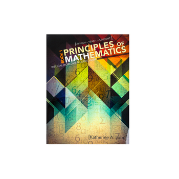 Master Books, Principles of Mathematics Book 1 Student Textbook, Paperback, 300 Pages, Grade  7
