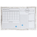 Imagination Station, White Dry Erase Monthly Organizer Board With Wood Frame, 23 x 35 Inches