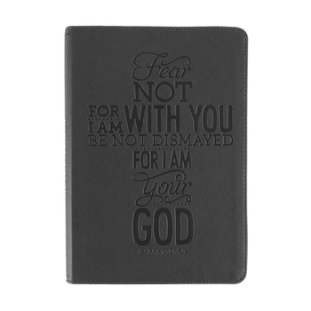 SoulScripts, Fear Not Cross, Flexcover Journal, Charcoal Gray, 6 x 8 1/2 inches, 360 pages
