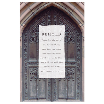 Salt & Light, Behold I Stand At The Door Church Bulletins, 8 1/2 x 11 inches Flat, 100 Count