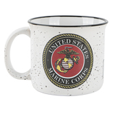 Spoontiques, United States Marine Corps Medallion Mug, Ceramic, 14 Ounces