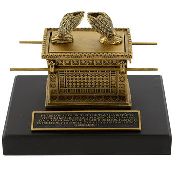 Lighthouse Christian, Ark of the Covenant (Spanish), Resin, Gold, 4 1/2 x 7 x 5 5/8 Inches