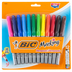 Bic, Mark-it Fine Point Permanent Markers Set, Multi-Colored, Pack of 12
