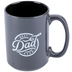 Christian Art Gifts, 1 Timothy 6:11, Best Dad Ever Coffee Mug, Ceramic, Black and White, 14 ounces