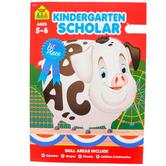 School Zone, Kindergarten Scholar Deluxe Edition Workbook, Paperback, 64 Pages, Grade K