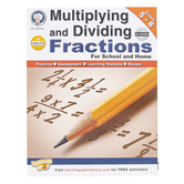 Carson-Dellosa, Multiplying and Dividing Fractions Workbook, Reproducible Paperback, 64 Pages, Grades 5-8