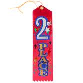 The Diploma Mill, 2nd Place Ribbon,  3 x 8  Inches, Red, 1 Piece