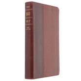 NLT Slimline Center-Column Reference Bible, Duo-Tone, Thumb Indexed, Multiple Colors Available