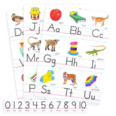 Trend, Photo Alphabet Cards Bulletin Board Set, Zaner-Bloser Manuscript, 29 Pieces, Grades PreK-1