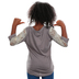 Southern Grace, Kind Heart Fierce Mind Brave Spirit, Kid's 3/4 Lace Sleeve T-shirt, Grey, Ages 2-3