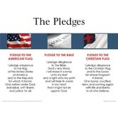 3 In 1 Pledges, by Rose Publishing, Wall Chart