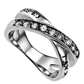 Spirit & Truth, Song Of Solomon 6:3, I Am My Beloved's, Women's Twin Band Ring, Stainless Steel, Sizes 5-9