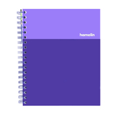 Hamelin, Hard Cover 1 Subject Notebook, 150 College Ruled Pages, Purple, 7 x 10 inches