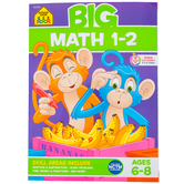 School Zone, Big Math 1-2 Workbook, Paperback, 320 Pages, Grades 1-2