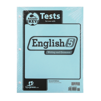 BJU Press, English 5 Tests Answer Key (2nd Edition)