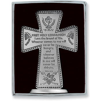 Abbey and CA Gift, First Communion Standing Cross, 3 inches