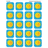 Teacher Created Resources, Summer Sunshine Stickers, 1 x 1 Inch, Multi-Colored, Pack of 120