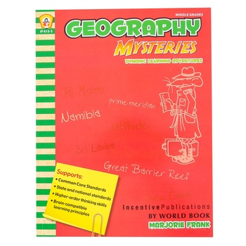 Incentive Publications, Geography Mysteries Dynamic Learning Adventures Workbook, 112 Pages, Grades 5-9