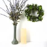 Bella Vita, Artificial Succulent Mini Wreath, Plastic, Green & Brown, 10 inches