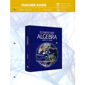 Master Books, Jacobs Elementary Algebra, Teacher Guide, Paperback, 266 Pages, Grades 9-10