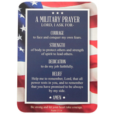 Christian Brands, Military Prayer Verse Pocket Card, Blue, 2 1/2 x 3 1/2