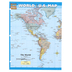 BarCharts Inc, World and U.S. Map Laminated Quick Study Guide, 8.5 x 11 Inches, 6 Pages, Grades 4-Adult