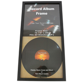 Green Tree Gallery, Double Record Album Frame, 12 1/2 x 25 inches, Black