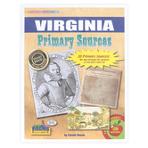 Gallopade, Virginia Primary Sources, by Carole Marsh, Card Stock, 20 Documents, Grades 3-12