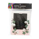 1 Corinthians 1:4 Cotton Note Cards, Pink, 4 x 5 1/4 Inches