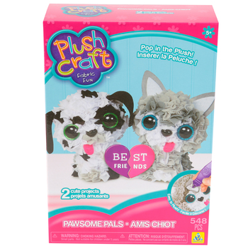 The Orb Factory, Pawsome Pals Plush Craft DIY Kit, 548 Pieces, Ages 5 Years and Up