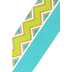 TooCute Collection, Wide Double-Sided Border Trim, 38 Feet, Green Chevron and Striped