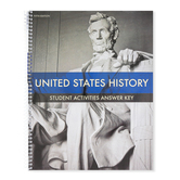 BJU Press, United States History Student Activities Answer Key, 5th Edition, Grade 11