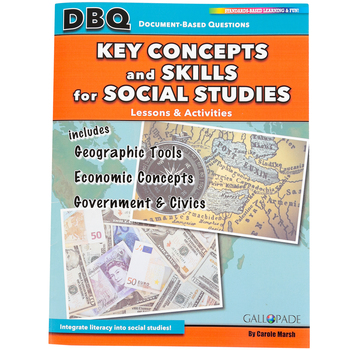 Gallopade, DBQ Lessons and Activities, Key Concepts and Skills for Social Studies, Paperback, 56 Pages, Grades 4-12