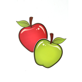 Renewing Minds, 2-Sided Large Apple Cutouts, 6 Inches, 36 Pieces