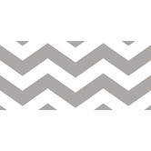 Renewing Minds, Wide Border Trim, 38 Feet, Grey and White Chevron