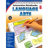 Carson-Dellosa, Interactive Notebooks Language Arts Resource Book, Reproducible Paperback, Grade 5