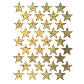 Eureka, Gold Stars Self-Adhesive Stickers, Gold, Pack of 72
