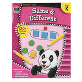 Teacher Created Resources, Ready-Set-Learn Activity Book: Same and Different, Paperback, Grade K