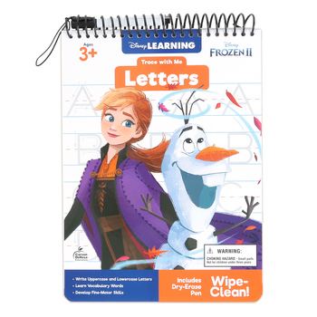 Carson Dellosa, Trace with Me Frozen 2 Letters Activity Book, Grades PreK-2, 32 Pages, Ages 3-8