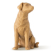 Willow Tree, Love My Dog Figurine (Light), by Susan Lordi, Resin, 3 1/4 inches