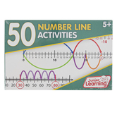 Junior Learning, 50 Number Line Activities, 4 1/2 x 7 inches, 50 Cards
