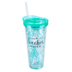 Don't Make Me Use My Teacher Voice Tumbler, Acrylic, Turquoise, 22 ounce