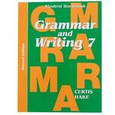 Saxon Grammar and Writing Student Workbook, Grade 7, Curtis Hake, 134 Pages