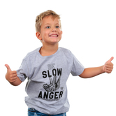 NOTW, James 1:19 Be Slow To Anger, Kid's Short Sleeve T-shirt, Heather Gray, 3T-YL